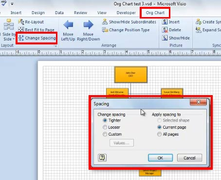 You Can Even Specify A Custom Value For The Spacing Between Subordinates And Then Apply Particular To Selected Shape Current Page