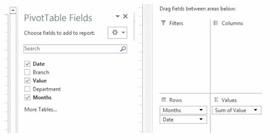 Pivot table fields image 2