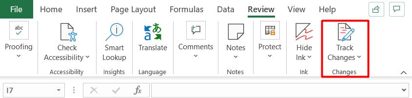 Excel Track Changes